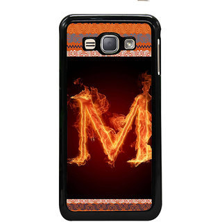 ifasho alphabet name series M Back Case Cover for Samsung Galaxy J1 (2016 Edition)