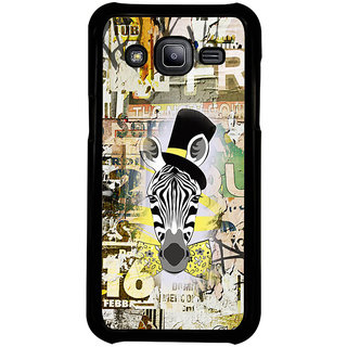 ifasho Animated Pattern of zebra Print Back Case Cover for Samsung Galaxy J2