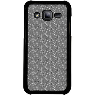 ifasho Modern Theme of black and white Squre inside square Back Case Cover for Samsung Galaxy J2
