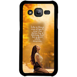 ifasho young Girl with quote Back Case Cover for Samsung Galaxy J2