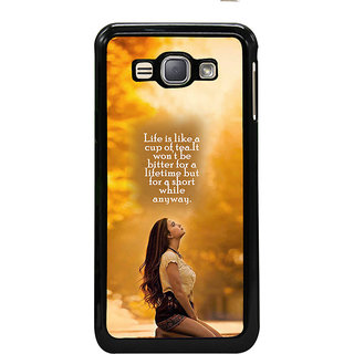 ifasho young Girl with quote Back Case Cover for Samsung Galaxy J1 (2016 Edition)