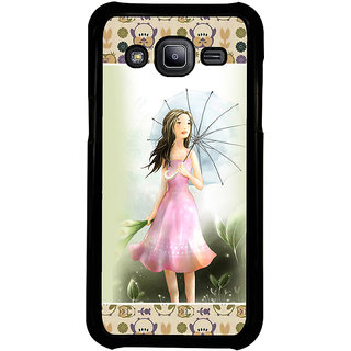 ifasho young Girl with umbrella Back Case Cover for Samsung Galaxy J2
