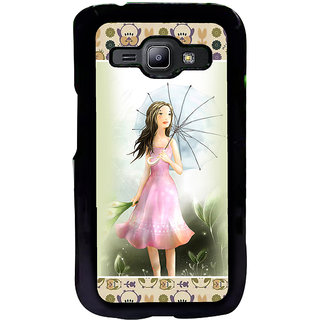 ifasho young Girl with umbrella Back Case Cover for Samsung Galaxy J1
