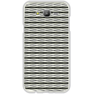 ifasho chevron style and Checks In black and white Pattern Back Case Cover for Samsung Galaxy J5