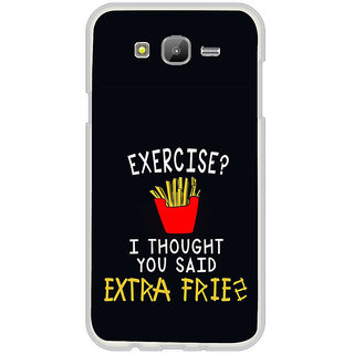 ifasho Quotes on exercise Back Case Cover for Samsung Galaxy J7