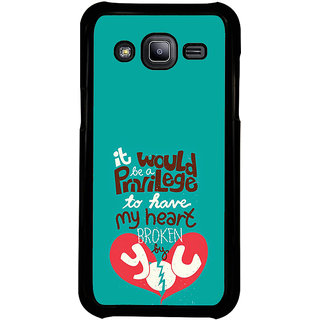 ifasho Heart Break Girl Back Case Cover for Samsung Galaxy J2