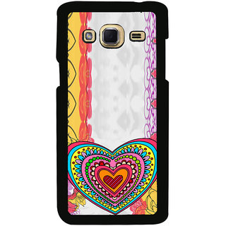 ifasho Modern Art Design Pattern with Heart and design colorful Back Case Cover for Samsung Galaxy J3