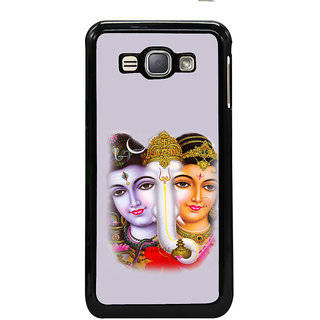 ifasho Siva Parvati and ganesh Back Case Cover for Samsung Galaxy J1 (2016 Edition)