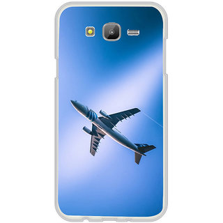 ifasho aeroPlane flying in blue sky Back Case Cover for Samsung Galaxy J5