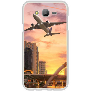 ifasho aeroPlane flying in city Back Case Cover for Samsung Galaxy J5