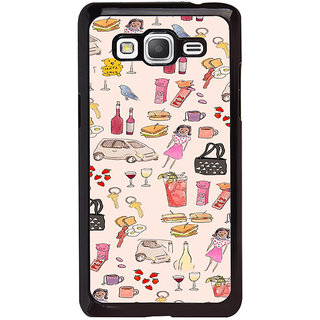 ifasho Modern Art Design Pattern girl shop car food bird Back Case Cover for Samsung Galaxy Grand Prime