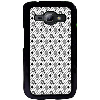 ifasho Animated Pattern design black and white flower in royal style Back Case Cover for Samsung Galaxy J1
