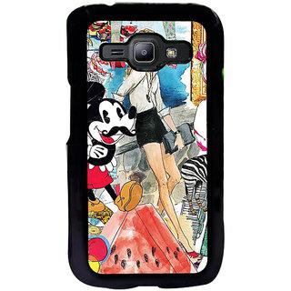 ifasho Modern Art Design Pattern girl shop car food bird Back Case Cover for Samsung Galaxy J1