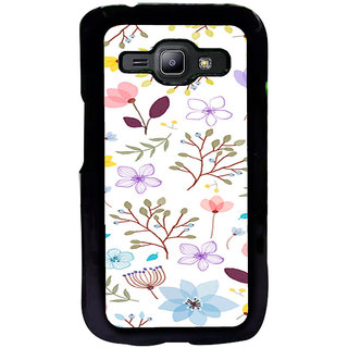 ifasho Animated Pattern colrful design flower with leaves Back Case Cover for Samsung Galaxy J1