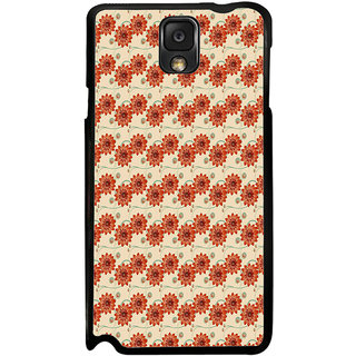 ifasho Modern Art Design animated cloth Pattern of flower Back Case Cover for Samsung Galaxy Note 3