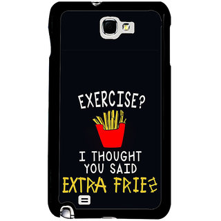 ifasho Quotes on exercise Back Case Cover for Samsung Galaxy Note 2
