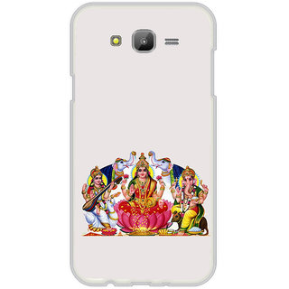 ifasho Laxmi Saraswati and Ganesh Back Case Cover for Samsung Galaxy J7