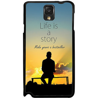 ifasho Good messge on Books life is a story Back Case Cover for Samsung Galaxy Note 3
