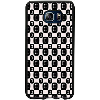 ifasho Modern Theme of black and white Squre and dots pattern Back Case Cover for Samsung Galaxy Note 5