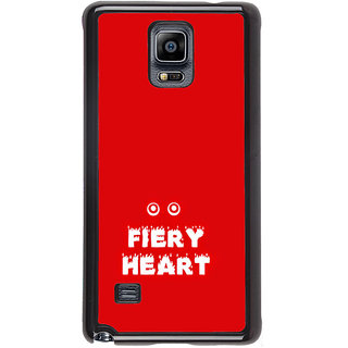 ifasho Fiery Heart modern quotes Back Case Cover for Samsung Galaxy Note 4