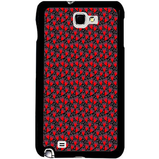 ifasho Modern Art Design Pattern with Lot Of small heart Back Case Cover for Samsung Galaxy Note 2