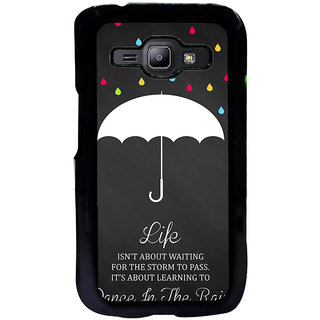 ifasho Good Quote on Rain Back Case Cover for Samsung Galaxy J1