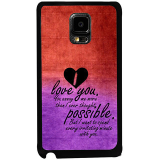 ifasho Love Quotes for love Back Case Cover for Samsung Galaxy Note Edge