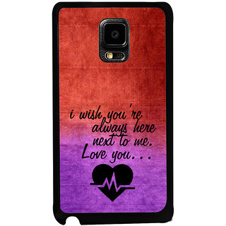 ifasho Love Quote Back Case Cover for Samsung Galaxy Note Edge
