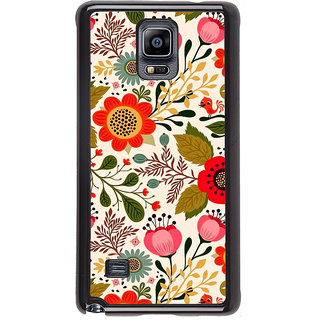 ifasho Animated Pattern colrful design flower with leaves Back Case Cover for Samsung Galaxy Note 4