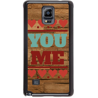 ifasho Quote On Love you and me Back Case Cover for Samsung Galaxy Note 4