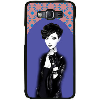 ifasho Girl in Black Jacket Back Case Cover for Samsung Galaxy On 5 Pro