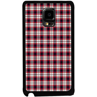 ifasho Colour Full Squre Pattern Back Case Cover for Samsung Galaxy Note Edge