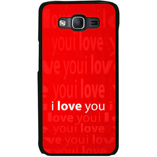 ifasho Love Quotes I love you Back Case Cover for Samsung Galaxy On 7