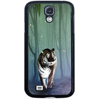 ifasho Animated Pattern With Tiger Back Case Cover for Samsung Galaxy S4