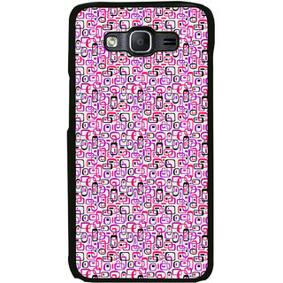 ifasho Colour Full Squre Pattern Back Case Cover for Samsung Galaxy On 7