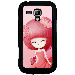 ifasho Cute Girl Back Case Cover for Samsung Galaxy S Duos S7562
