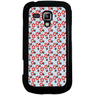 ifasho Animated Pattern colrful design flower with leaves Back Case Cover for Samsung Galaxy S Duos S7562