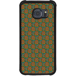 ifasho Animated Pattern design colorful flower in white background Back Case Cover for Samsung Galaxy S6 Edge