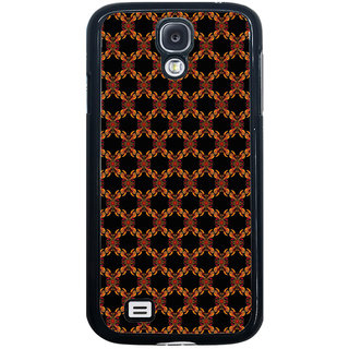 ifasho Animated Pattern design colorful flower in black background Back Case Cover for Samsung Galaxy S4