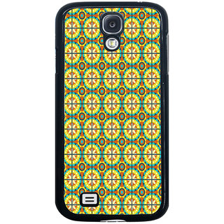 ifasho Animated Pattern design colorful flower in royal style with lines Back Case Cover for Samsung Galaxy S4