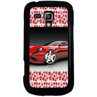 ifasho Stylish RED Car Back Case Cover for Samsung Galaxy S Duos S7562