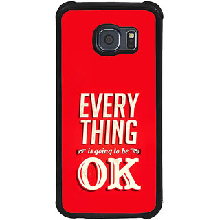 ifasho everything will be ok quotes Back Case Cover for Samsung Galaxy S6 Edge Plus