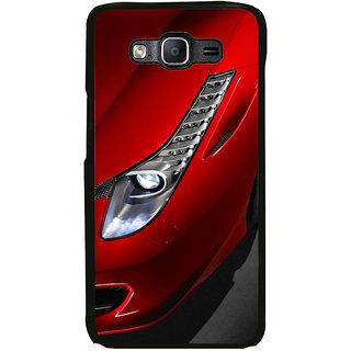 ifasho Red Royal colour Car Back Case Cover for Samsung Galaxy On 7 Pro