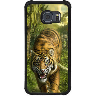 ifasho Angry Tiger  Back Case Cover for Samsung Galaxy S6 Edge Plus