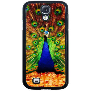 ifasho Beautiful Peacock Back Case Cover for Samsung Galaxy S4