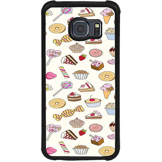 ifasho Animated food pattern Back Case Cover for Samsung Galaxy S6 Edge