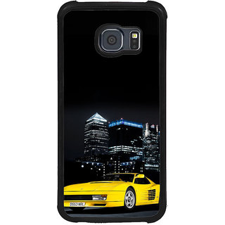 ifasho Stylish Yellow Car Back Case Cover for Samsung Galaxy S6