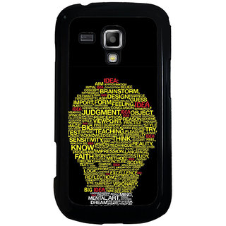 ifasho Quotes on idea animated bulb Back Case Cover for Samsung Galaxy S Duos S7562