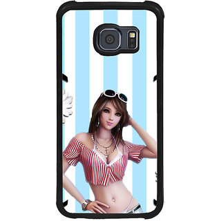ifasho very beautiful Girl Back Case Cover for Samsung Galaxy S6