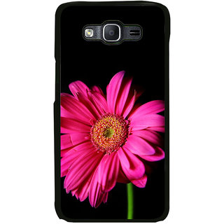 ifasho Flower Design Pink flower in black background Back Case Cover for Samsung Galaxy On 7